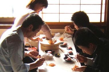 修学旅行和菓子作り体験