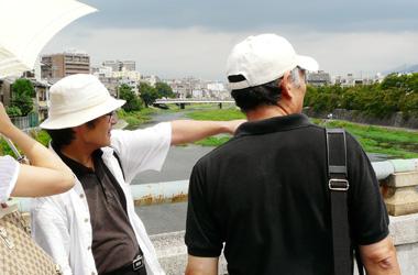 京都を案内