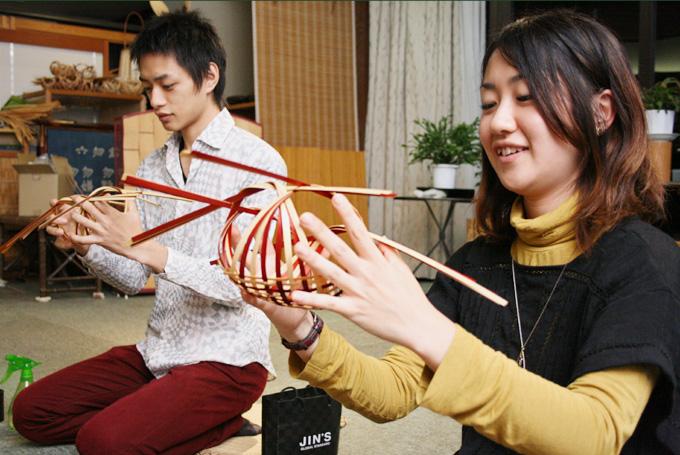 しなやかな竹の美しさ感じる竹細工